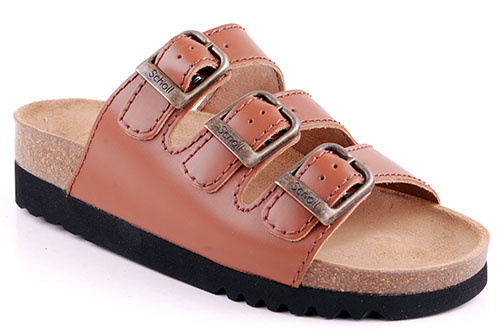 Scholl Rio Ergonomisk sandal Cognac