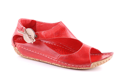 Charlotte of Sweden sandal röd