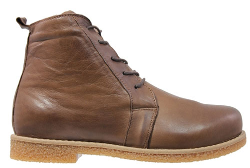 Charlotte Chelsea Lace Boot DK Brown