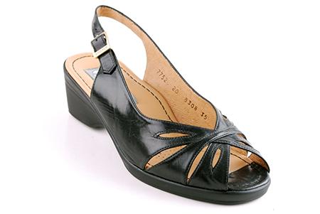Drucker Sandaler med Kilklack Svart