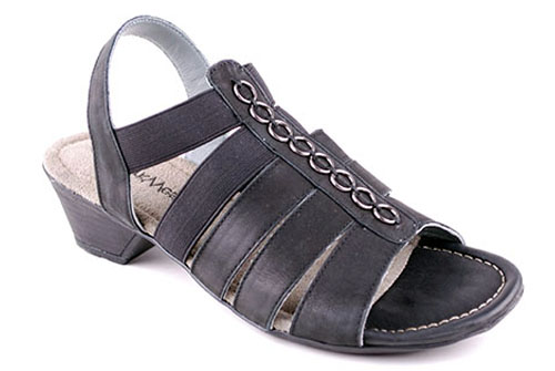 Sandalett Svart läder