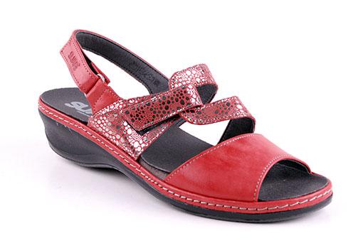 Suave Sandalett Läder Röd